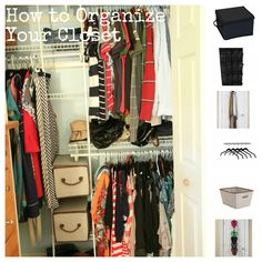 How to Organize a Small Closet (Tips & Tools for Affordable Organizing) from MomAdvice.com. I'm pinning this, but if they consider that closet in the pic to be a 'small closet' then they haven't seen my closets!