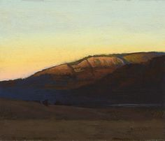 Montana Evening, 6 x 7 inches, oil on panel. Marc Bohne