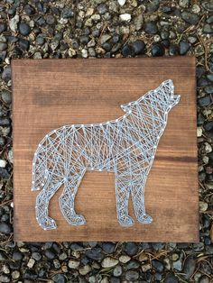 MADE TO ORDER Wolf String Art by MadeByTheNeedle on Etsy