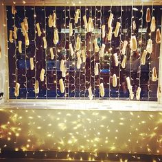floating pointe shoes and fairy lights are getting us into the festive mood at BLOCH London. Christmas Tree Festival, Christmas Dance, Trophy Display, Shoe Display, Ballet Senior Pictures, Fairy Lights Room, Hipster Bedroom Decor, Dance Shops, Dance Decorations