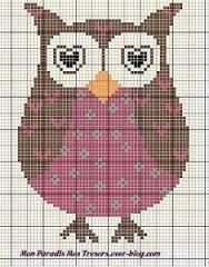 Resultado de imagem para grafico de tapete croche coruja