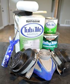 Don't live with a nasty discolored tub... Paint it! It is so easy and the results are amazing. With these tools and the right prep, any DIYer can do it!