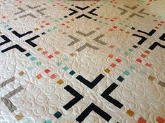 """Color Frames: A quilt based on pattern by Amy Ellis in the book We Love Color; size 70"""" X 87"""""""
