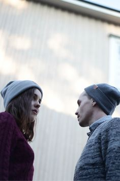 Couples Outfit for Fall. Cozy wool beanies by VAI-KØ.