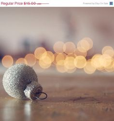 a little holiday sparkle, with a glitter ornament!