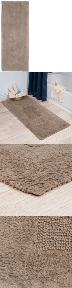 Bathmats Rugs And Toilet Covers 133696 2 X 5 Ft Beige Taupe Reversible Long