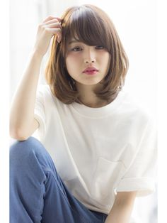 52 Beautiful Teen With Short Hairstyle That Can To Try Medium Hair Cuts, Short Hair Cuts, Medium Hair Styles, Curly Hair Styles, Asian Short Hair, Asian Hair, Traditional Hairstyle, Chin Length Hair, Japanese Hairstyle