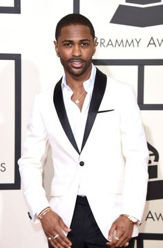 Big Sean arrives at the 58th Annual GRAMMY Awards on Feb. 15 in Los Angeles