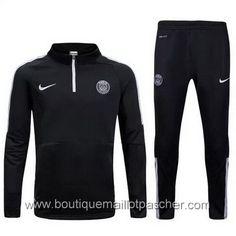 Survêtement de foot Nike Training PSG 2016 Noir