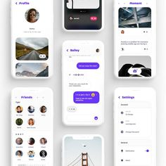 """UI8 on Instagram: """"Social App UI Kit Sleek and modern social based mobile UI kit. Click link in bio and search """"Social app"""" to check out this product."""""""