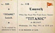 According to bornrich.com, an original Titanic boarding ticket was slated to go on auction and have a price tag at an estimate of $70,000. In April 2012, the historic Titanic ticket was purchased for $53,068 won by a private American buyer at Bonham's auction in New York.  #Titanic #Auction