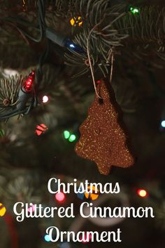 #Christmas Glitter Cinnamon Ornament #craft #diy #glitter