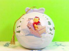 Disney 1999 Winnie The Pooh A SLEIGH FULL OF PRESENTS Ceramic Ornament   | eBay