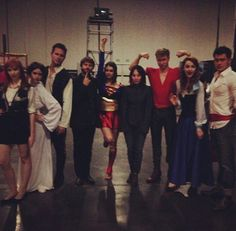 Leaky Con - Lizzie Bennet Diaries gang I love all their costumes, especially Laura Spencer as Ariel!!!