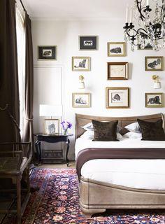 Moody bedroom in a g