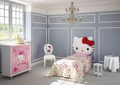Dormitorio Hello Kitty Sofisticada - Bedroom Hello Kitty Sofisticada