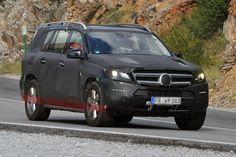 Шпионские фото: Mercedes-Benz GL-Class 2012 года