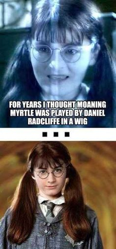 """The Best Harry Potter Humor On Tumblr - my father actually asked me """"hey, is that Harry with a wig on?"""":"""