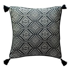 Delaney Cushion - Print (1,645 INR) ❤ liked on Polyvore featuring home, home decor, throw pillows, pillows, decor, coussins, cushion, patterned throw pillows, black and white throw pillows and contemporary throw pillows