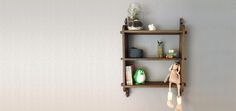 Peggy shelf - solid oak - perfect for those little things. www.nannestadandsons.com Fun Size, Solid Oak, Floating Shelves, Sons, Shelf, Interior, Furniture, Design, Home Decor