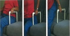 Sofa Arm - Help a person get off the sofa on the side without the sofa arm. Pinned by pttoolkit.com your source for geriatric physical therapy resources.