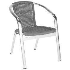 Safavieh Furniture - A modern iteration of the fan back chair, the grey Wrangell indoor-outdoor stacking armchair by Safavieh is designed for parties in chic contemporary Patio Rocking Chairs, Patio Dining Chairs, Wicker Chairs, Bistro Chairs, Side Chairs, Grey Armchair, Outdoor Armchair, Outdoor Chairs, Outdoor Decor
