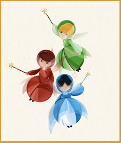 *FAUNA, MERRYWEATHER & FAUNA ~ Sleeping Beauty