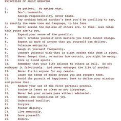 Principles of Adult