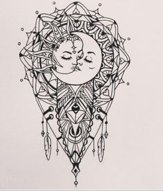 Sternum Tattoo, Mandala Tattoo, Tattoo Moon, Moon Mandala, Shoot The Moon, Paper Moon, Tatting, Spirituality, Sun Moon