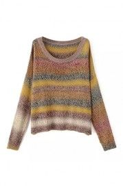 ROMWE Multi-colore Striped Jumper