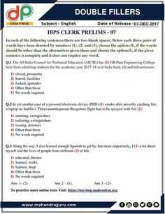 #DP | Double Fillers For IBPS Clerk Prelims | 07 12 2017 Http