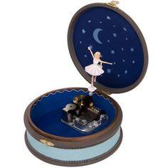 Voici la boîte à bijoux musicale fétiche de Félicie Ballerina de la marque Trousselier. Une boîte très pratique qui diffuse une douce mélodie lorsqu'on l'ouvre.