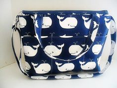 Hey, I found this really awesome Etsy listing at https://www.etsy.com/pt/listing/156334367/large-diaper-bag-in-navy-blue-whale