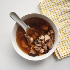 Asian Ginger, Mushroom and Chicken Soup