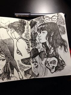 Cameron Stewart - Some late night bar sketches.