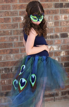 Peacock Costume with Mask. I want to make an adult version of this using this photo for inspiration.