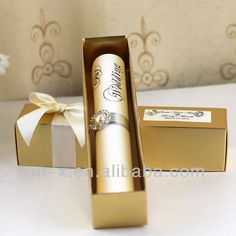 FREE SHIPPING!!! SC003 - Scroll Wedding Invitations With Golden Boxes US $600.00