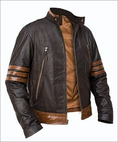 X-MEN Wolverine Origins Logan Biker Leather Jacket
