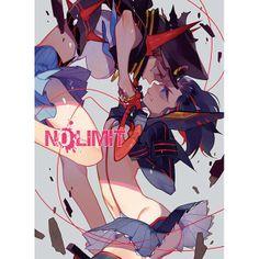 Kill la Kill, Matoi Ryuko, Mankanshoku Maki, awesome illustration!