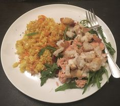 My Food Bag Flaked Salmon and Rocket Salad with Baked Rice cooked by Lena Talks Rocket Salad, Baked Rice, Recipe Box, I Foods, Risotto, Salmon, Fresh, Meals, Cooking