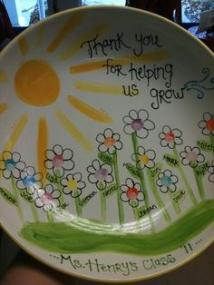 Teacher Gift done by PYOP Studio in Northborough, MA.   www.pyopstudio.com   www.facebook.com/paintpottery  www.pinterest.com/pyop