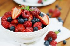 The Kitchen is My Playground: Triple Berry Fruit Salad with Vanilla Simple Syrup {Happy 4th of July!}