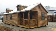 Wildcat Barns sells and offers RENT TO OWN high quality Amish log cabins, with or without finished interior Shed Homes, Cabin Homes, Log Homes, Tiny Homes, Log Cabin Plans, Cabin Kits, Shed House Plans, House Floor Plans, Prefab Log Cabins