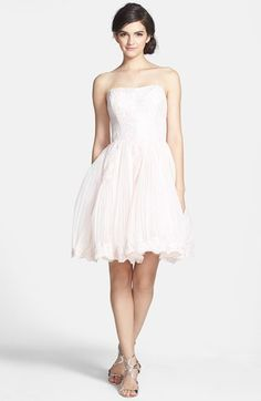 Ted Baker London 'Raul' Embroidered Lace Fit & Flare Dress available at #Nordstrom