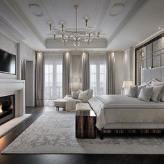 The 4 Best Splurge-Worthy Master Suite Purchases (and where to save) Interior design trends. What to spend your money on in your master bedroom. bedroom suite The 4 Best Splurge-Worthy Master Suite Purchases (and where to save) Luxury Bedroom Design, Master Bedroom Design, Dream Bedroom, Home Decor Bedroom, Luxury Master Bedroom, Luxury Decor, Bedroom Furniture, Bedroom Curtains, Diy Bedroom