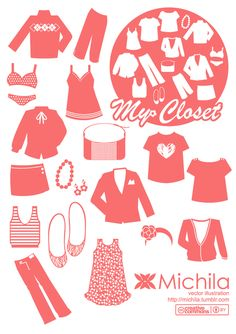 My Closet Fashion Vector Pack - Free Vector Site | Download Free Vector Art, Graphics