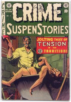 A cover gallery for the comic book Crime SuspenStories Comics Und Cartoons, Sci Fi Comics, Horror Comics, Creepy Comics, Horror Art, Horror Fiction, Pulp Fiction, Fiction Novels, Science Fiction