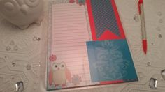Coral & Teal OWL Pocket Dashboard Erin Condren and Plum Paper Planners