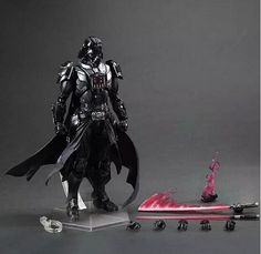 244.40$  Watch now - http://alituz.worldwells.pw/go.php?t=32502407945 - Wholesale 5pcs pop Star Wars Darth Vader fighting style action pvc figure character toy tall 30cm in box via EMS.