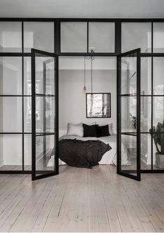 Glass details for the bedroom #scandinavianhome #interiorinspiration